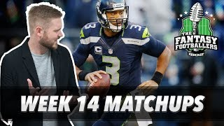 Fantasy Football 2017 - Week 14 Matchups, In-or-Out, Russell Wilson Dilemma - Ep. #495