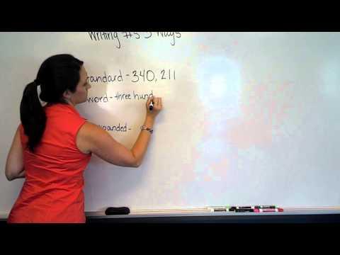 writing numbers 3 ways