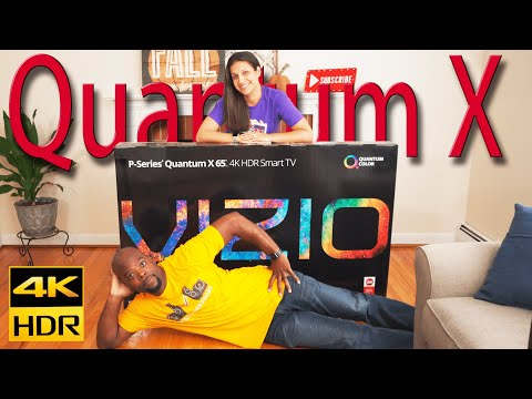 Vizio P-Series Quantum X 4K HDR TV Unboxing & Initial Setup + Demo [4K HDR]