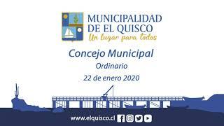 Concejo Municipal 22 de enero 2020