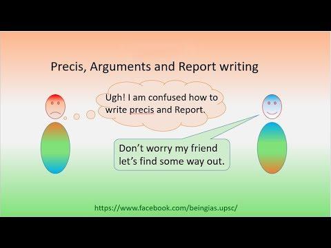 Precis, Report and Argument writing