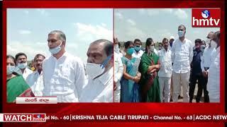 Minister Harish Rao Developments Works in Medak | hmtv