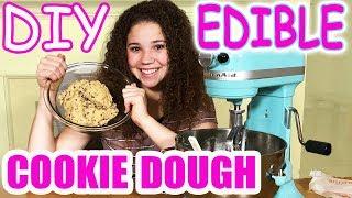 DIY Edible Cookie Dough!! (Haschak Sisters)