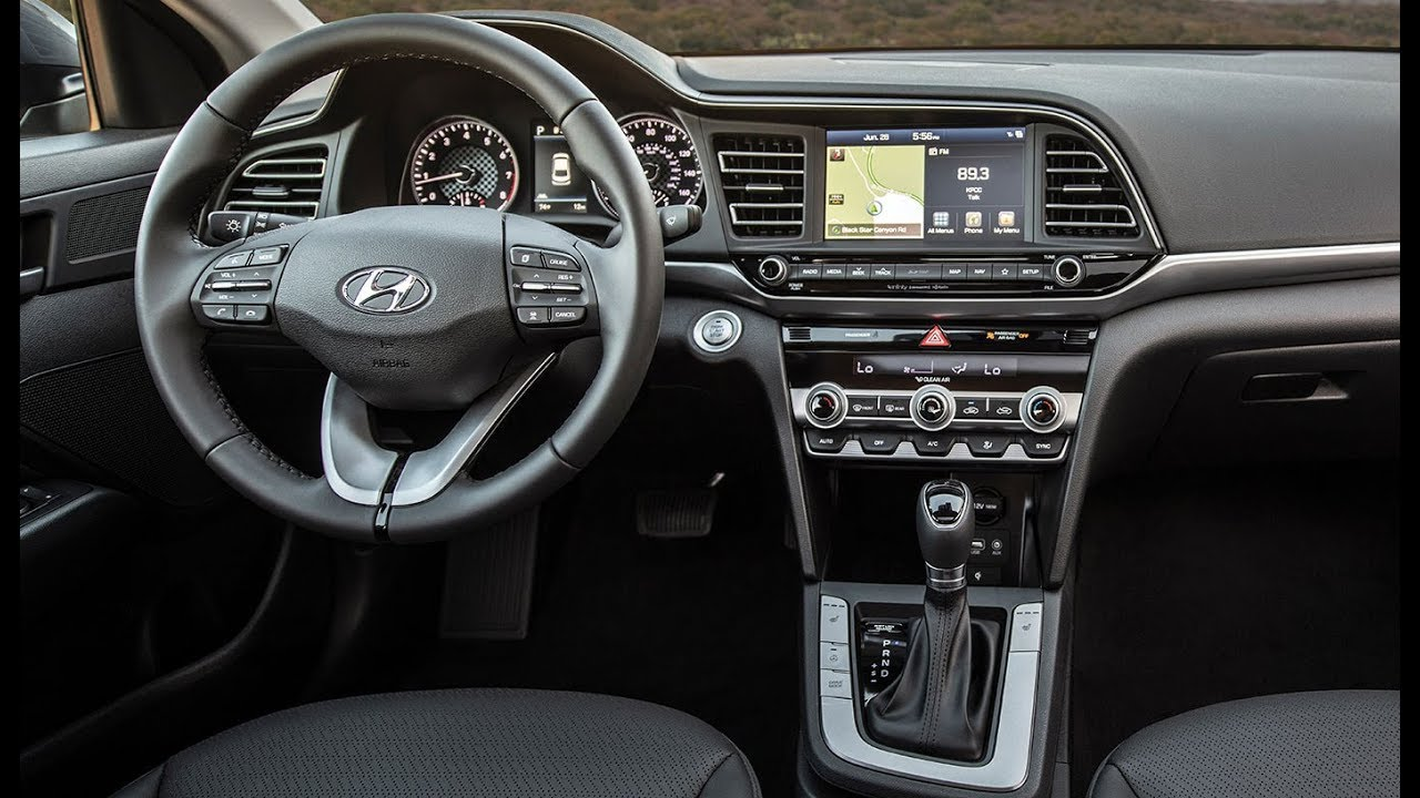 2019 Hyundai Elantra Interior Youtube