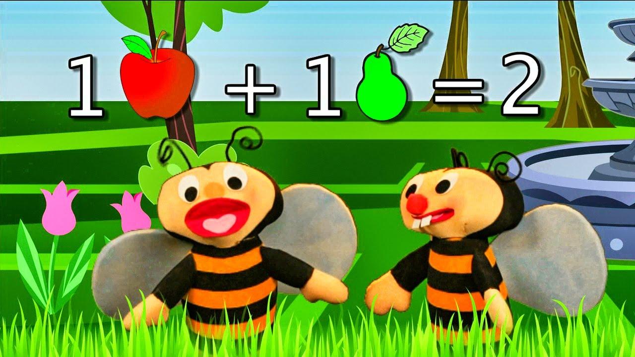 Las Abejitas Sumadoras - Los números del 0, 1 y 2 - Sumar y Restar
