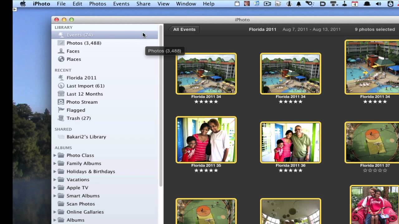 Copy Photos Between Two iPhoto Libraries