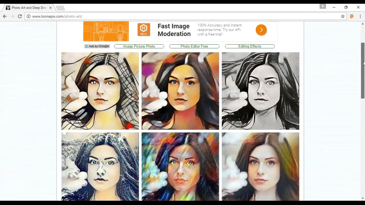 онлайн эффекты арт для фото
