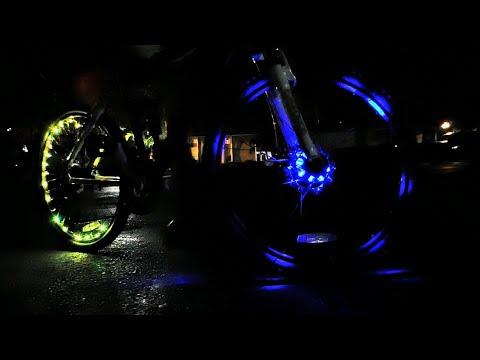 My Knew Bike Lights | Poliyu UFO Hub Lights | Juice84 | Coral Springs Vegan Vlogger