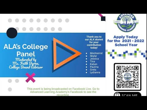 Advanced Learning Academy College Panel