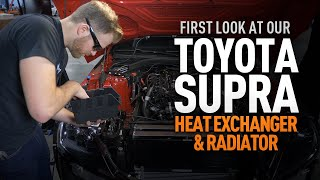 homepage tile video photo for 2020+ Toyota Supra Heat Exchanger and Radiator First Look