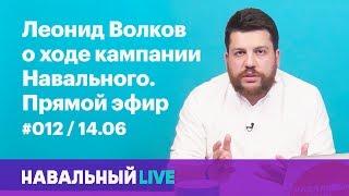 Леонид Волков о кампании Навального. Эфир #012, 14.06
