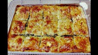 Einfachste und schnellste Börek Rezept IIspanakli kolay tepsi böregi Baklavalik yufkayla