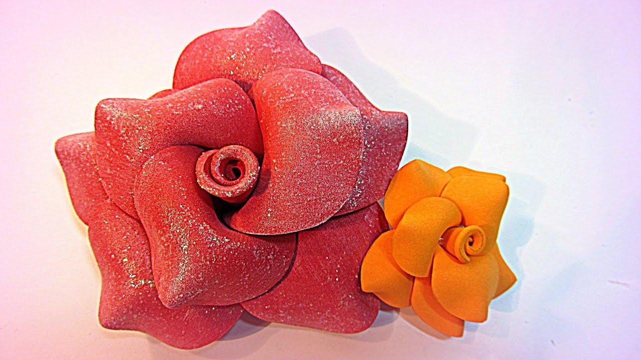 Tutorial flores de goma eva foami youtube - Flore de goma eva ...