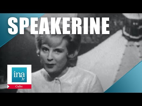 Speakerine 1960 Catherine Langeais et le train de Noël | Archive INA