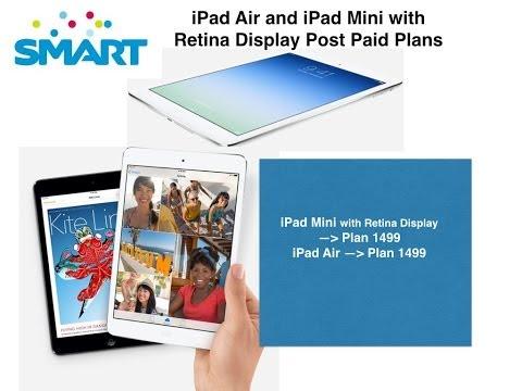 SMART IPad Air And IPad Mini With Retina Post Paid Plans Quick Recap