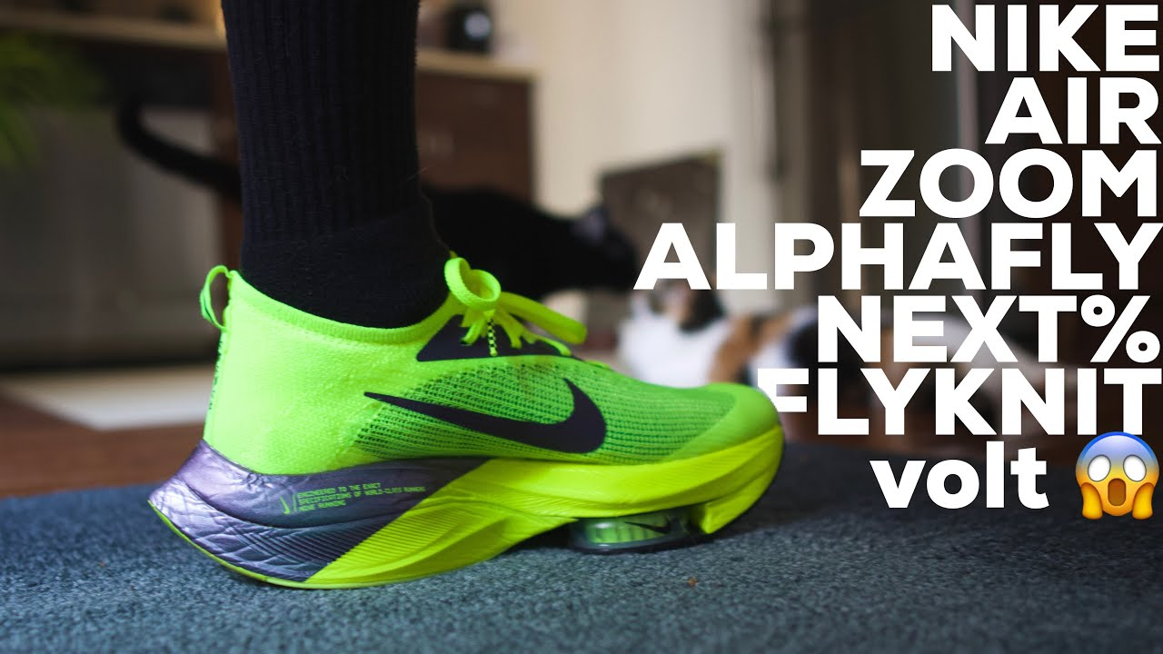 I Put on Nike's Air Zoom Alphafly Next% Flyknit Running Shoes VOLT for the First Time