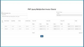 In this part of invoice or billing system by using php with jquery, we have discuss how to update edit details script jquery. suppose...