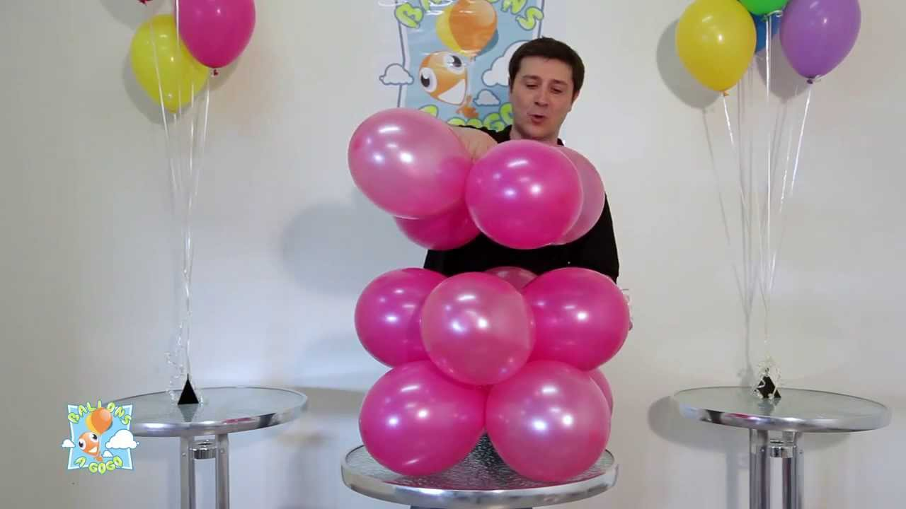 Arche de ballons torsad e youtube - Decoration mariage ballon ...