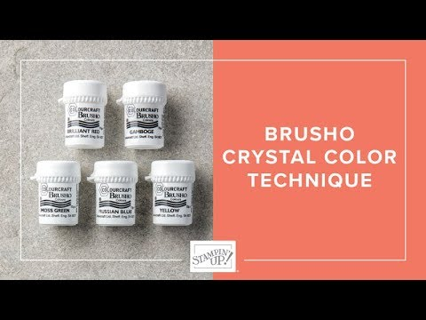 Watch It Wednesday - Brusho Crystal Colour Techniques