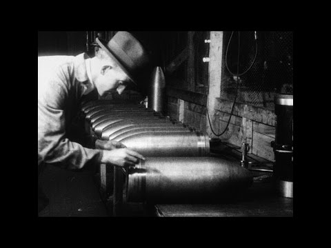 Manufacturing an Eight Inch High Explosive Howitzer Shell (1917 ?)