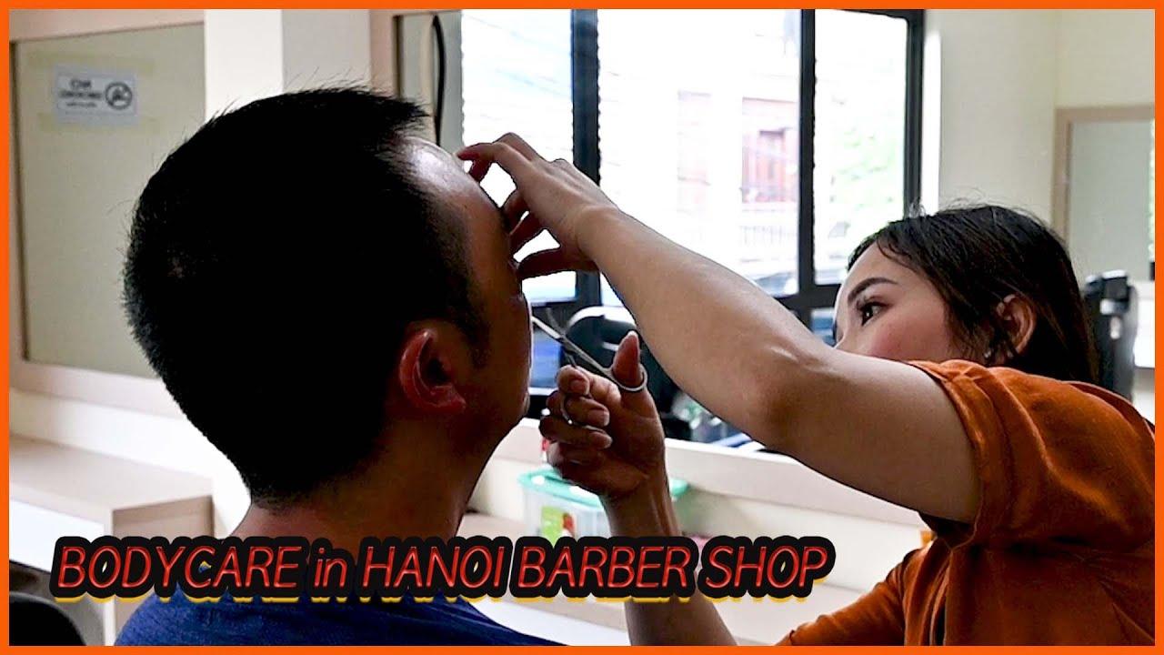 Vietnam barber shop tour. Awesome body care service. 하노이 서울이발관 Part 5