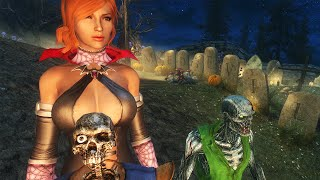 Skyrim Mod Review 85 - Halloween FNIS PCEA2 and MediEvil - Series: Boobs and Lubes
