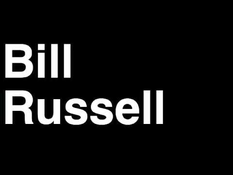 How to Pronounce Bill Russell Trophy NBA Basketball Award Ceremony Finals Most Valuable Player MVP