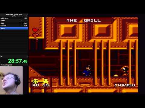 The Addams Family(SNES) any% in 52:51