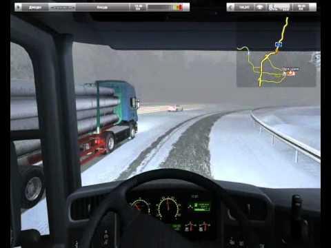 German Truck Simulator - Зимний Мод