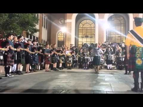 America the beautiful. Bagpipes gray performance