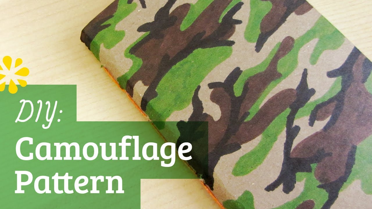 How To Make Camo Pattern On Cake