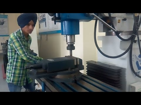 ITI Fitter Course,Work for Milling machine
