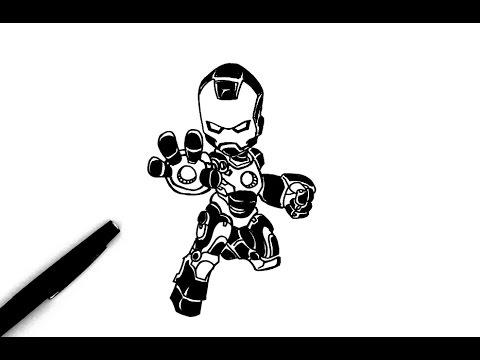 Comment dessiner iron man chibi youtube - Comment dessiner joker ...
