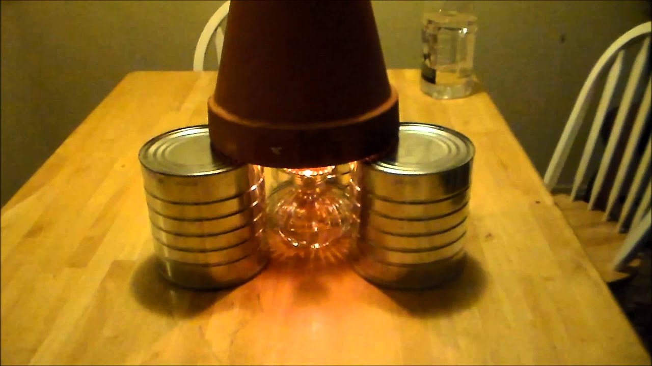 Candle Heater using oil lamp - YouTube
