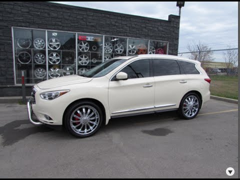 2013 Infiniti Jx 35 Riding On Custom 22 Inch Chrome Rims Youtube