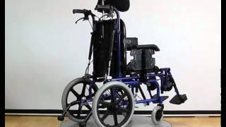 видео Кресло-коляска FS958LBHP-32