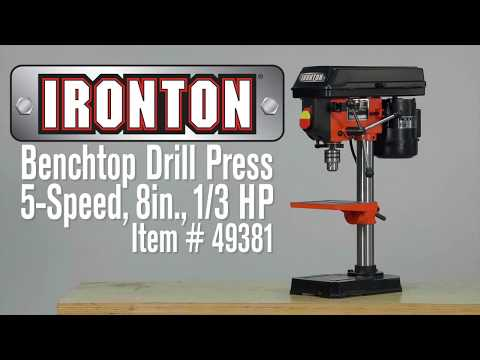 ironton-benchtop-drill-press-5-speed-8in.-1/3-hp