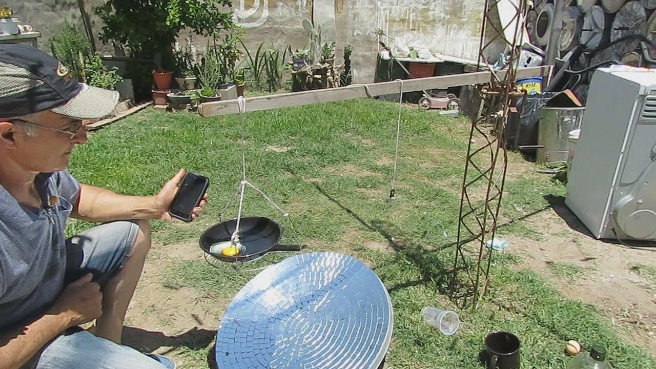 Cocina color p 250 rpura 7 - Cocina Solar Frita Un Huevo En 2 Minutos Solar Cooking Fry An Egg In 2 Minutes Youtube