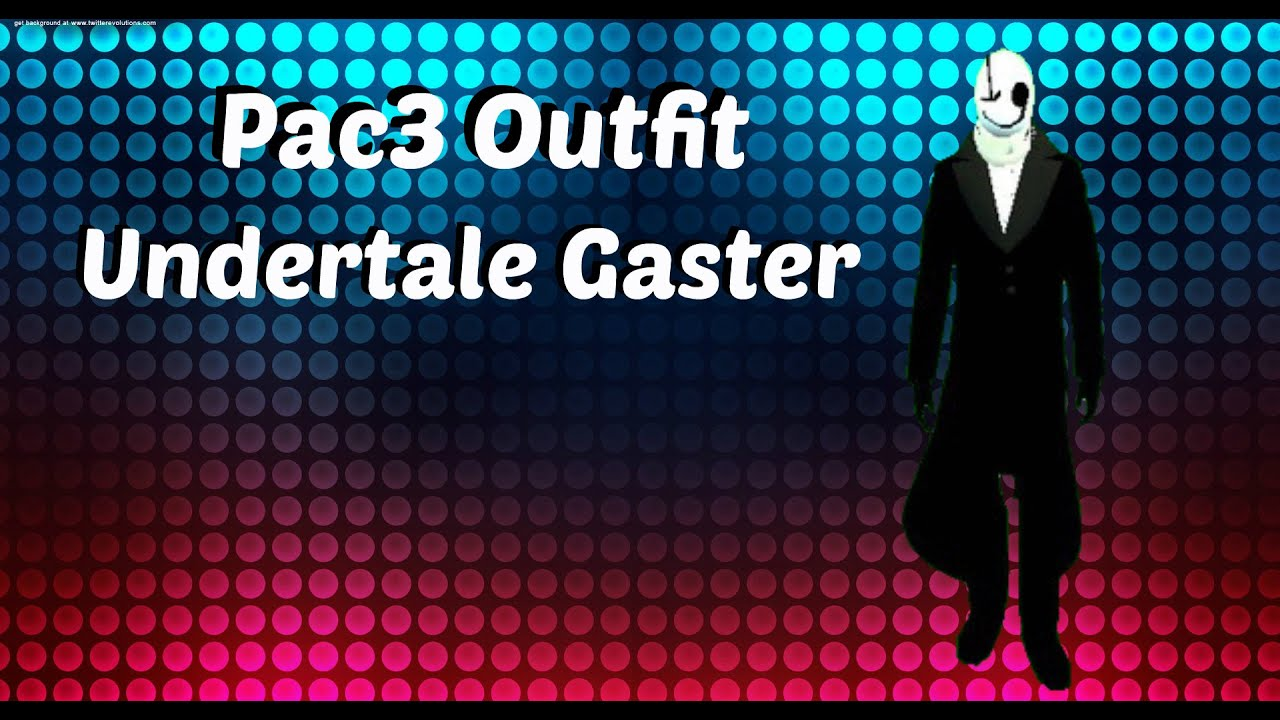 Gmod Pac3 Outfit Undertale Gaster