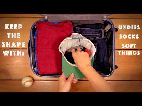 How To Keep Your Hat S Shape Baseball Packing Travel Hack Youtube