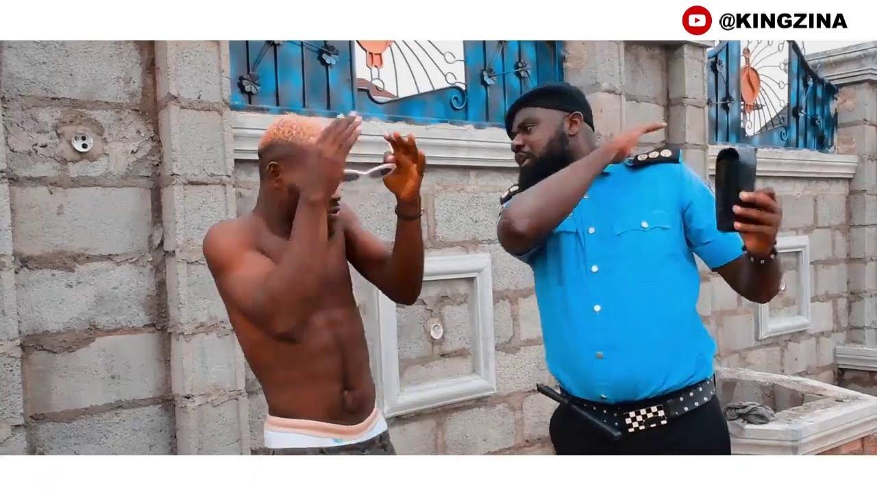 Police tames Broda Shaggi (Wahala Jam Trouble) -  (KingZina comedy) (Episode107)