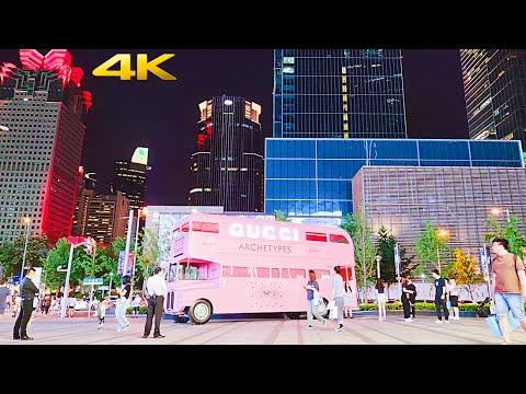 4K Shanghai Bustling Nightlife Tour at Green Escape Market 2021上海夜生活节之安义夜巷集市|繁华的南京西路之静安寺商圈夜景新地标