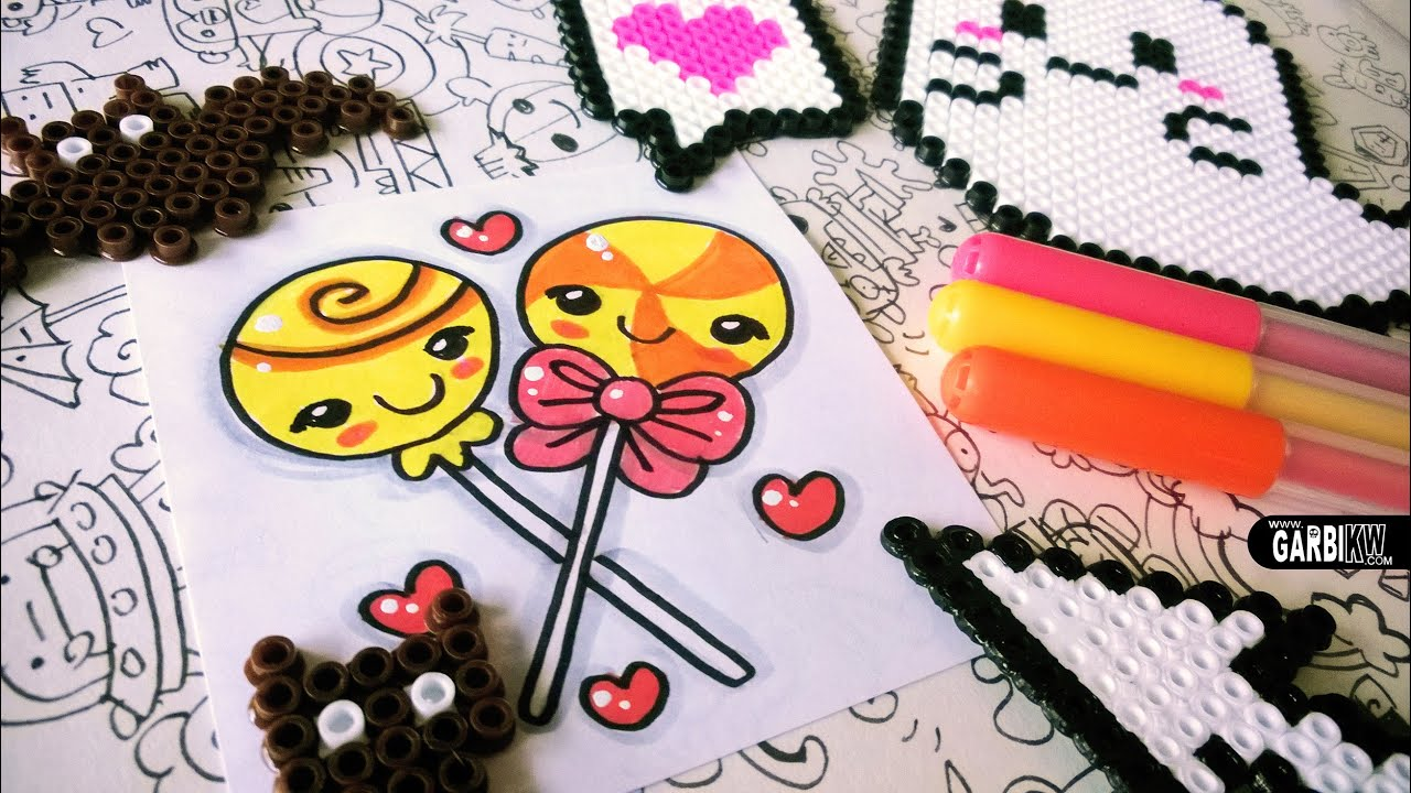 Halloween Drawings - How To Draw Kawaii Lollipops by Garbi ...