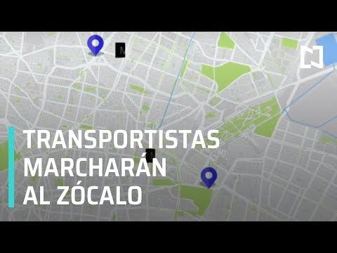 Ruta de las marchas de transportistas en CDMX - Las Noticias con Claudio Ochoa