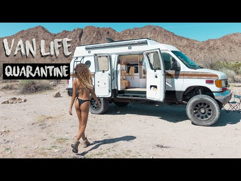 VAN LIFE | HOW TO QUARANTINE Living in a VAN | Escaping the Pandemic | Part 2