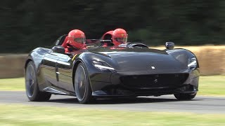 2019 Ferrari Monza SP2 - LOUD Revs, Accelerations & BURNOUTS!