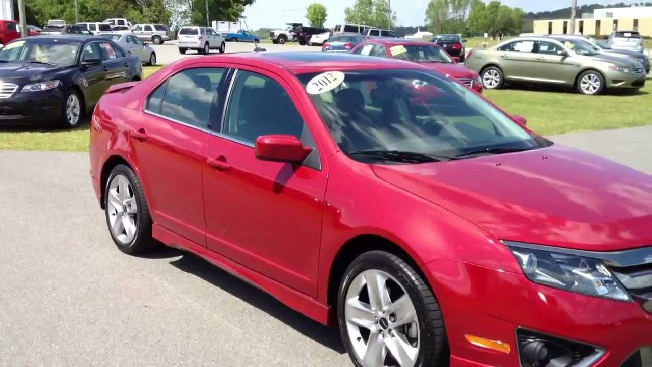 2012 ford fusion sport red candy for sale youtube. Black Bedroom Furniture Sets. Home Design Ideas