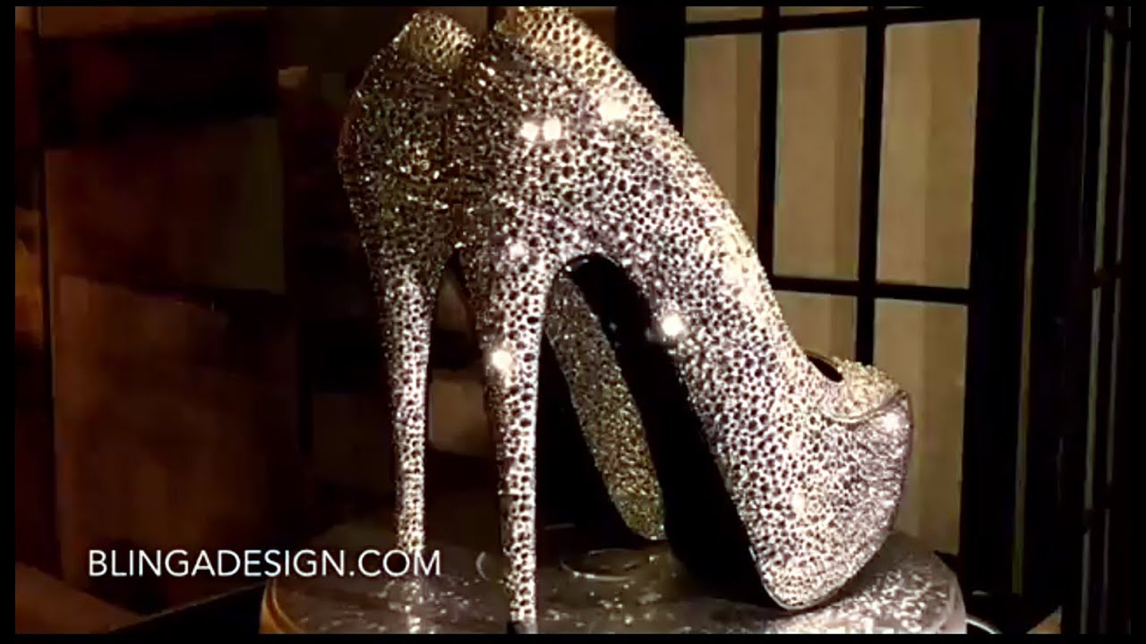 christian louboutin pigalle gold strass