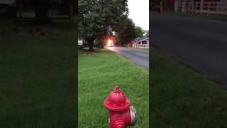 E-194 responding to a house fire