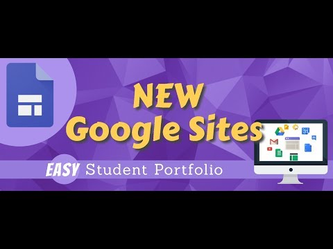 NEW Google Sites   EASY Student Portfolio